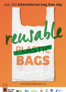 Das Logo des plastic bag free days 2015
