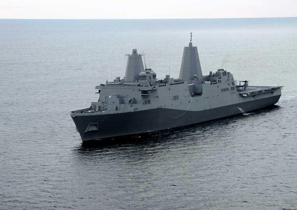 Die USS New York: Knapp 7 Tonnen Stahl vom WTC wurden eingearbeitet