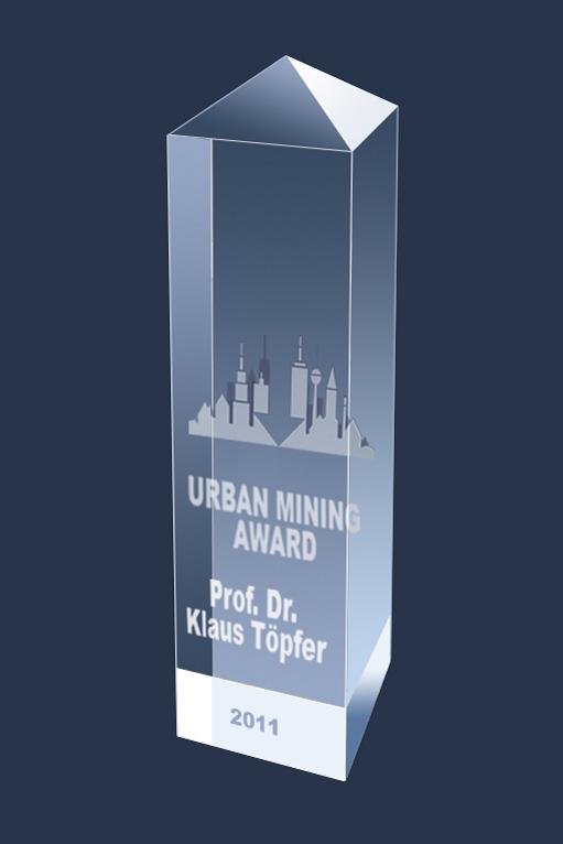 Der Urban Mining Award: Ausgezeichnet werden damit »besondere Verdienste und Leistungen für die Förderung und Umsetzung einer konsequenten Kreislaufwirtschaft«