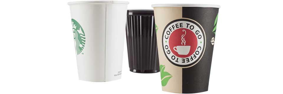 Drei Caffee to Go-Becher-Ausführungen …