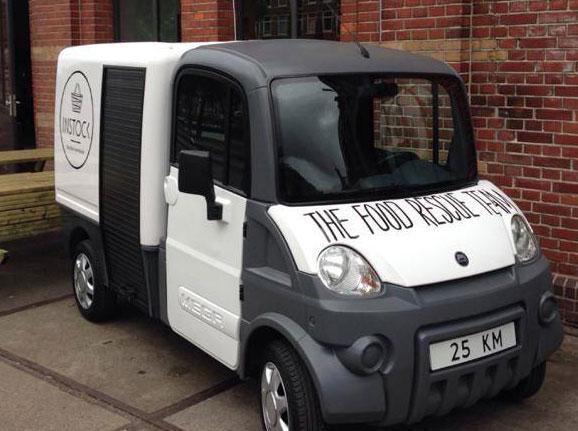 Unterwegs mit dem Food Rescue-Mobil
