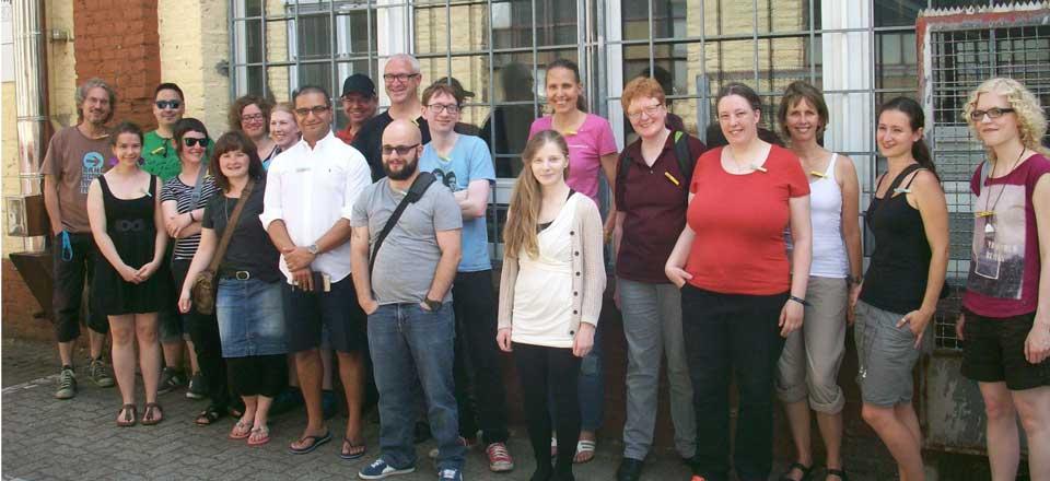 Gruppenfoto mit Minimalisten beim Minimalistentreff in Frankfurt