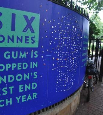 Sechs Tonnen Kaugummi im Jahr entsprechen …