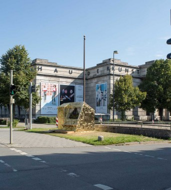 Verkehrsinsel Prinzregentenstraße: »AU Gold House«